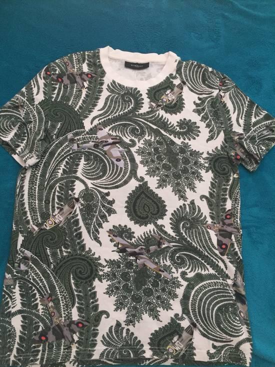 Givenchy Paisley and Plane-Print Cotton T-shirt Size US S / EU 44-46 / 1 - 1