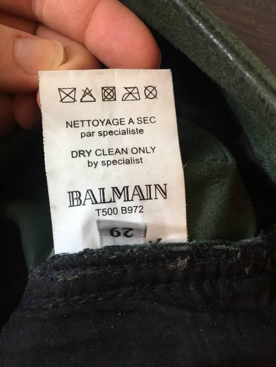 Balmain Balmain FW 2012 Green Suede lambskin Pants Size US 29 - 11