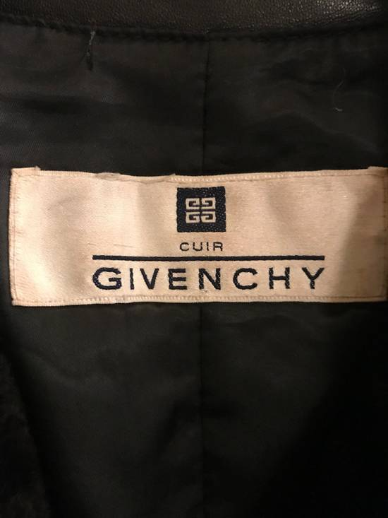 Givenchy Givenchy Woman's Leather Long Jacket with Fur Collar Size US XS / EU 42 / 0 - 2
