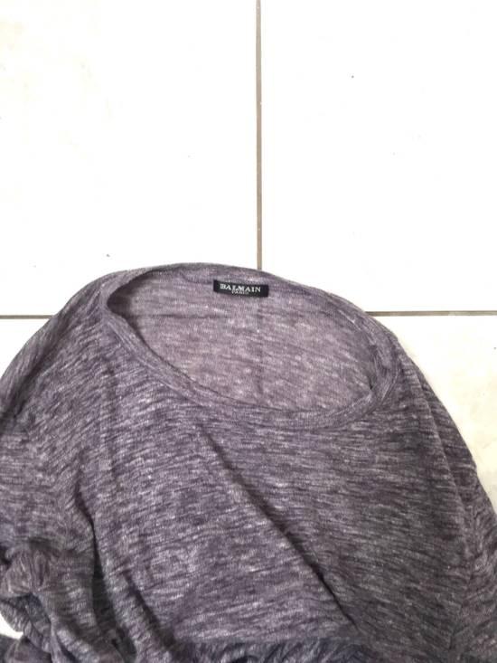 Balmain Balmain Paris Lavender Crewneck Linen Long Sleeve Shirt Size US L / EU 52-54 / 3 - 5