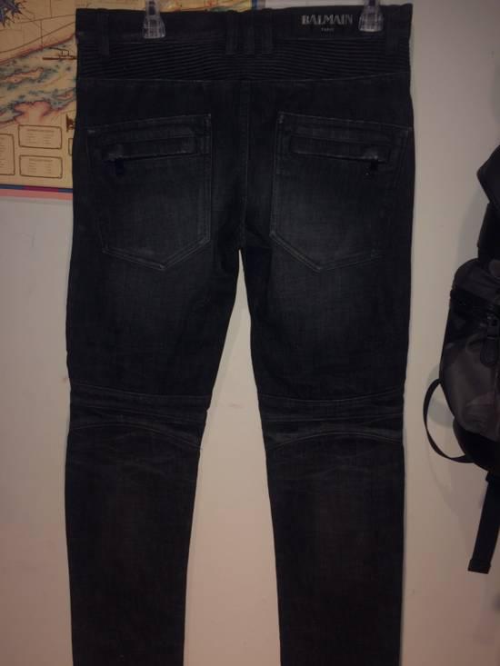 Balmain BALMAIN Paris Biker Jeans Size US 29 - 3