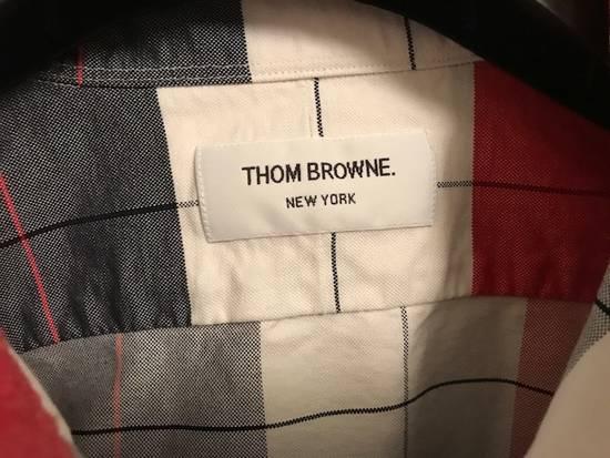 Thom Browne Buffalo-Checked Men's Oxford Shirt NEW Size US L / EU 52-54 / 3 - 7