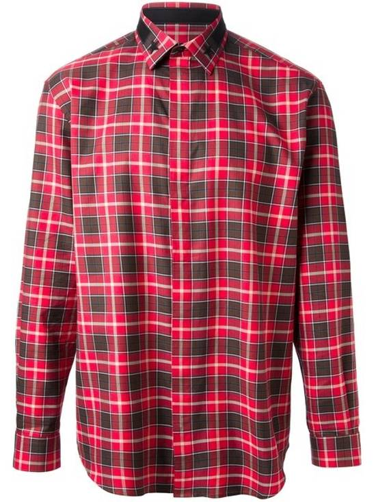 Givenchy Givenchy Red Plaid Flannel Shirt Size US XL / EU 56 / 4