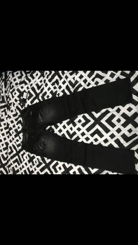 Balmain NWT Phillip Plein 1978 Balmain Denim Leather Jeans Size 34 Size US 34 / EU 50 - 3