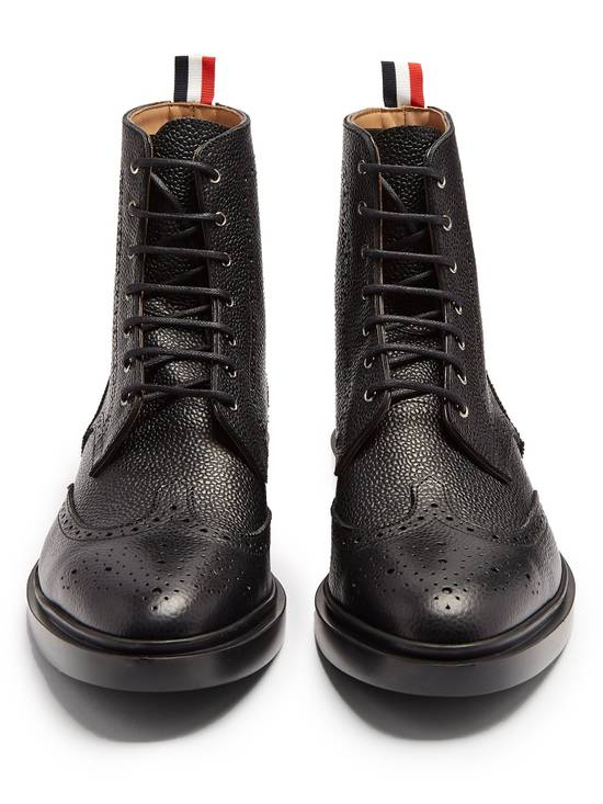 Thom Browne Wingtip Grained-Leather Lace Up Ankle Boots msrp $1100 Size US 10 / EU 43
