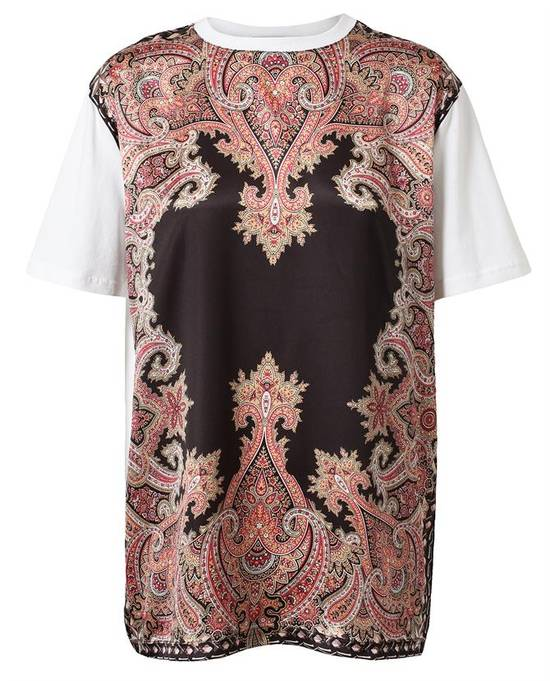 Givenchy $685 Givenchy Satin Paisley Floral Birds of Paradise Oversized T-shirt size S (M) Size US M / EU 48-50 / 2 - 1