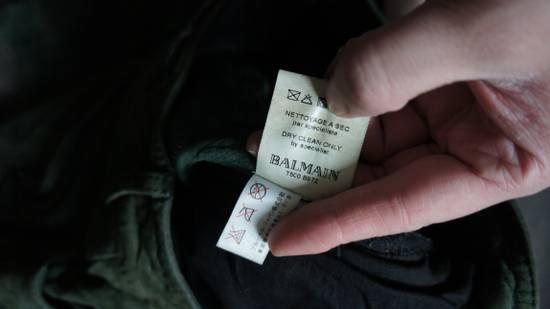 Balmain Final price. Green suede pleated bikers Size US 32 / EU 48 - 6
