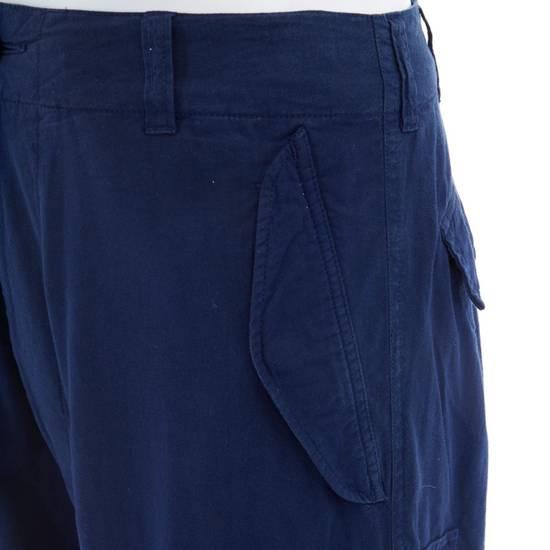 """Yohji Yamamoto YOHJI YAMAMOTO blue cotton dropped crotch exteme wide leg cargo pants JP3 33"""" L Size US 33 - 6"""