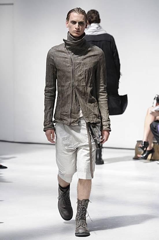 Julius AW12 Moldable Jut Neck Leather Jacket NEW Size US L / EU 52-54 / 3 - 5