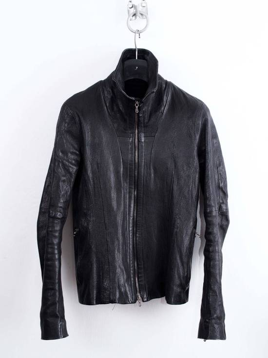 Julius Julius jut Neck Leather Jacket Size US S / EU 44-46 / 1 - 2