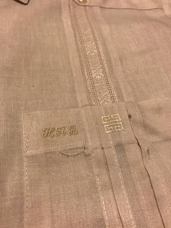 Givenchy Linen Pink Short Sleeve Button Up Size US L / EU 52-54 / 3 - 2