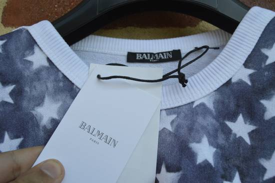 Balmain Flag and Logo Print Sweater Size US L / EU 52-54 / 3 - 8