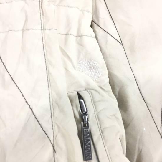 Balmain LUXURY!! BALMAIN Paris Monogram Down Jacket Puffer Jacket / Fall & Winter Hypebeast Jacket / Balmain Raincoat Size US L / EU 52-54 / 3 - 9