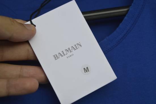 Balmain Blue Distressed T-shirt Size US M / EU 48-50 / 2 - 3