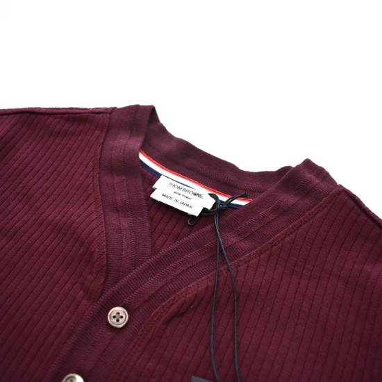 Thom Browne Wine Red Ribbed Henley Shirt NWT Size US XS / EU 42 / 0 - 4