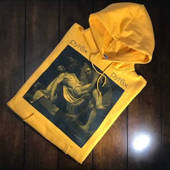 Pyrex Vision Pyrex Entombment Of Christ Hoodie Yellow Size US L / EU 52-54 / 3