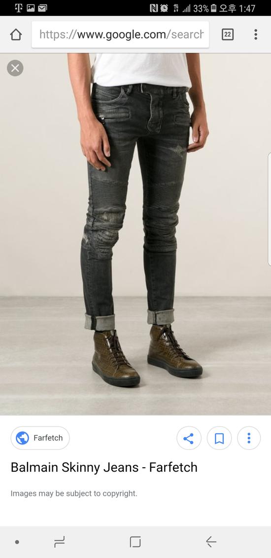 Balmain 14 fw distressed biker jeans Size US 27 - 4