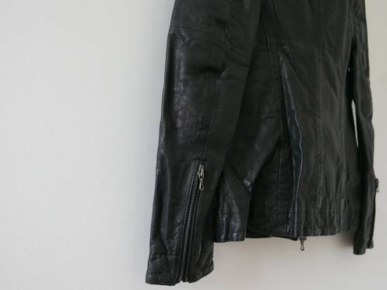 Julius Julius Black Asymmetric Zipped Leather Jacket Size US S / EU 44-46 / 1 - 3