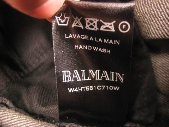 Balmain Classic Moto Jeans Made in Japan Style No. W4HT551C710W Black Coated Skinny Stretch Denim Biker Pants 32 x 32 Size US 32 / EU 48 - 15