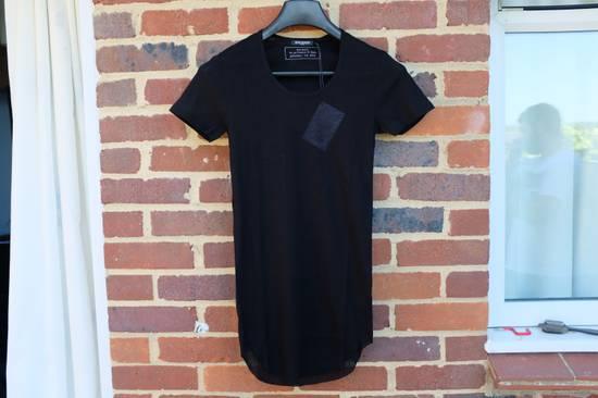 Balmain Black Ribbed Knit T-shirt Size US XS / EU 42 / 0
