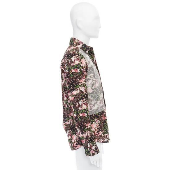 Givenchy GIVENCHY Pre14 reversed panel rose floral digital print cotton shirt US40 FR50 Size US M / EU 48-50 / 2 - 5