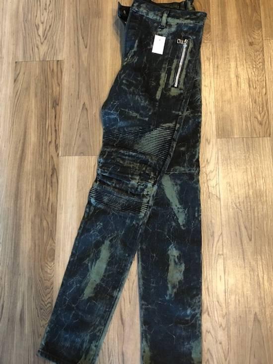 Balmain Extremely Rare Brand New Balmains- Marble-Print Skinny Moto Jeans Size US 32 / EU 48 - 2