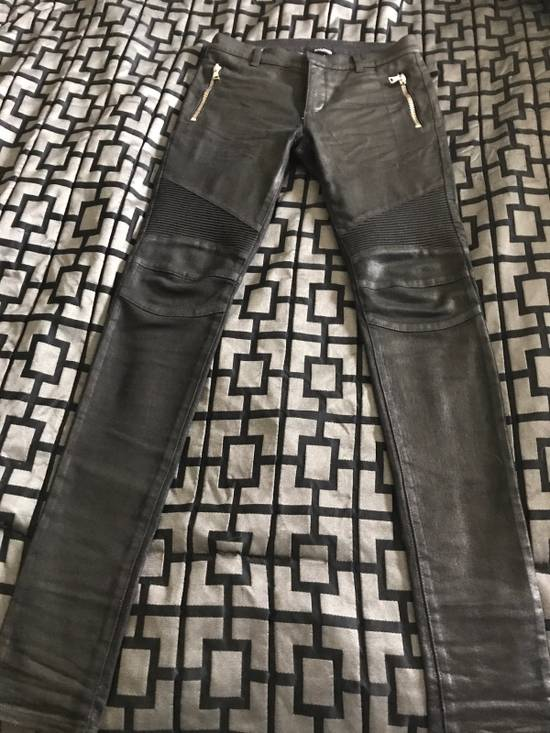 Balmain !Need Gone! Balmain Bikers Waxed Fits 29-31 Size US 29
