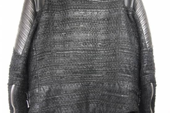 Givenchy $8k AW13 Givenchy Black Tweed & Leather Biker Jacket Size 48 Size US M / EU 48-50 / 2 - 9