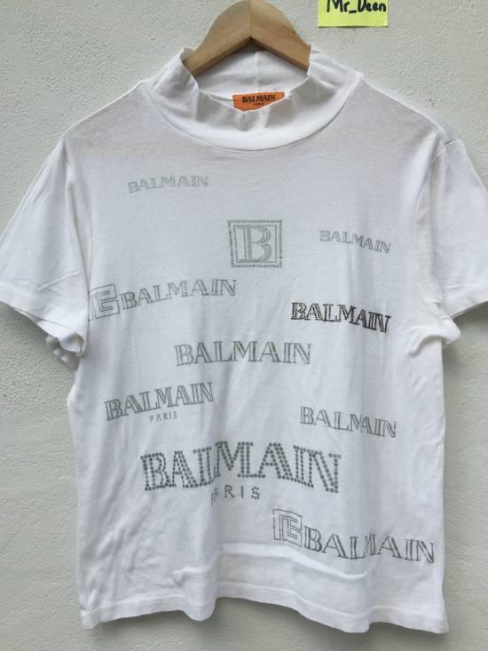 Balmain Vintage Balmain Script Logo Tshirt Size US S / EU 44-46 / 1 - 4