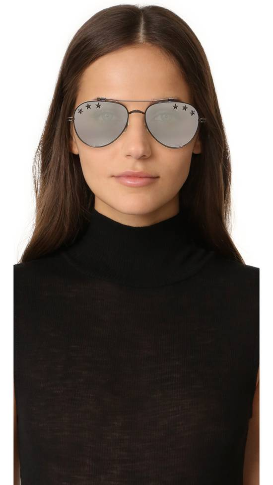 Givenchy NEW Givenchy GV7057/S 7057 Star Aviator Silver Mirrored Sunglasses Size ONE SIZE - 1