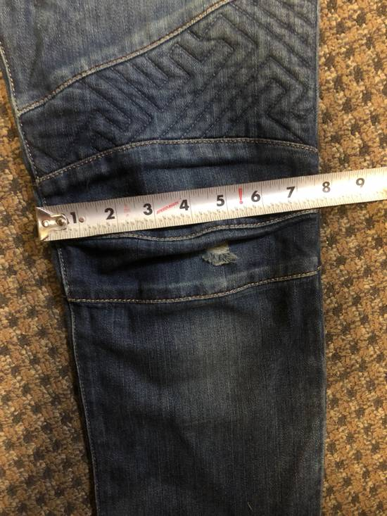 Balmain Balmain Geometric Quilted Paneled Biker Denim Jeans Size 32 Size US 32 / EU 48 - 10