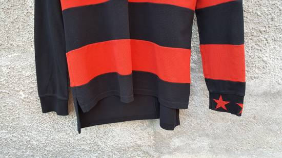 Givenchy Givenchy Striped Star Embroidered Rottweiler Oversized Polo Shirt size M (L / XL) Size US M / EU 48-50 / 2 - 7