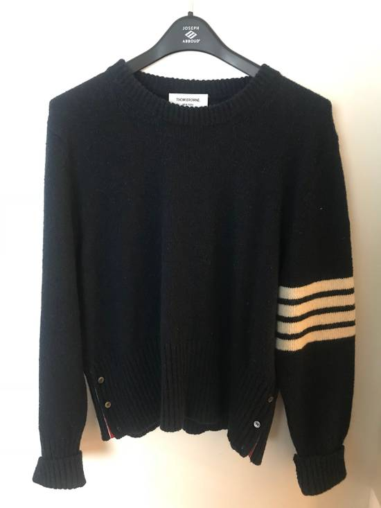 Thom Browne Navy Three Stripe Knit Size US XL / EU 56 / 4