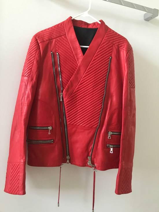 Balmain Nappa Leather Biker Jacket Size US M / EU 48-50 / 2 - 1