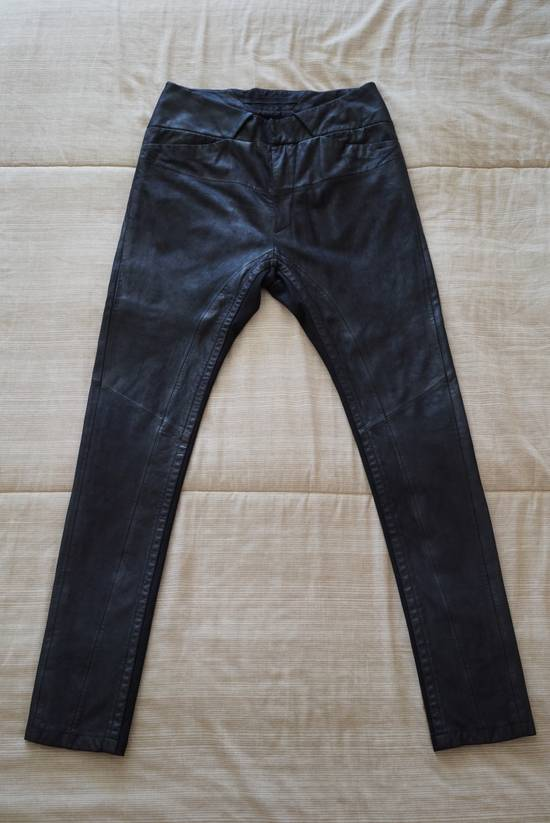 Julius Leather Paneled Biker Pants Size US 30 / EU 46 - 1