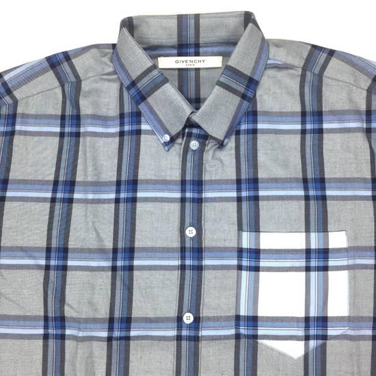 Givenchy Blue Cuban Fit Flannel Shirt NWT Size US M / EU 48-50 / 2 - 3