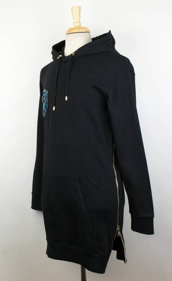 Balmain Men's Black Cotton Embroidered Long Hooded Sweater Size Large Size US L / EU 52-54 / 3 - 1