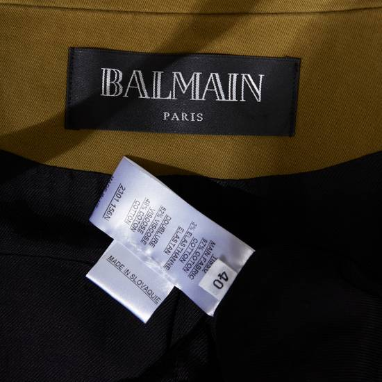 Balmain BALMAIN Pre14 army green stretch military zip up oversized jacket FR40 US8 UK12 Size US M / EU 48-50 / 2 - 13