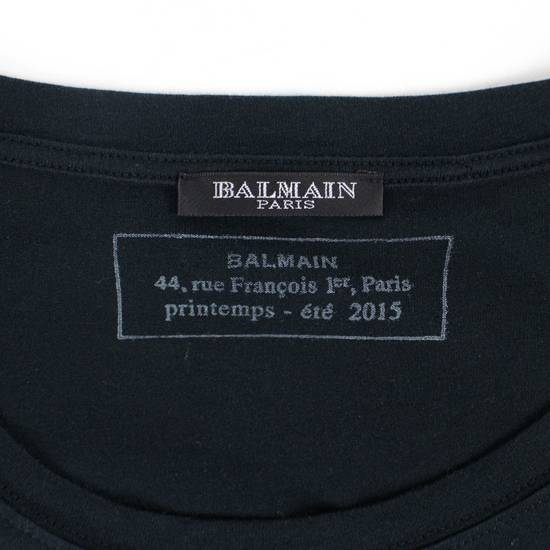 Balmain Black/Silver Cotton Short Sleeve Metallic T-Shirt Size M Size US M / EU 48-50 / 2 - 4