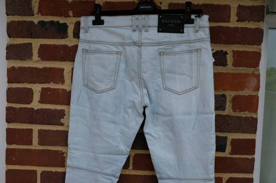 Balmain Light Blue Biker Jeans Size US 31 - 7