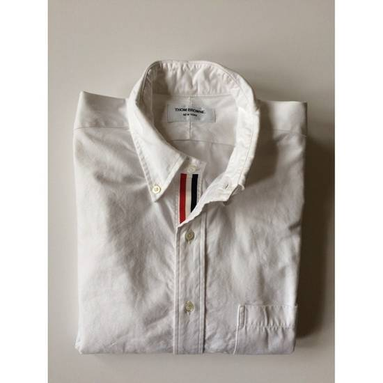 Thom Browne White Oxford With Grosgrain Placket Size US S / EU 44-46 / 1 - 2