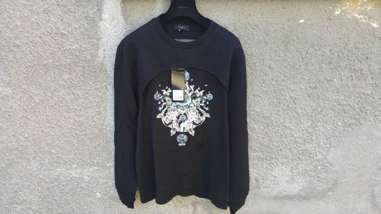 Givenchy $1200 Givenchy Black Layered Embellished Crystals Stars Rottweiler Cuban Fit Sweater size XL (L) Size US XL / EU 56 / 4