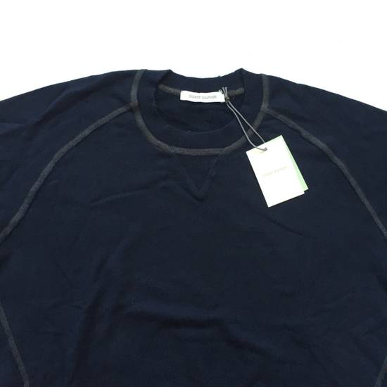 Balmain Distressed Navy French Terry Sweatshirt NWT Size US XL / EU 56 / 4 - 2