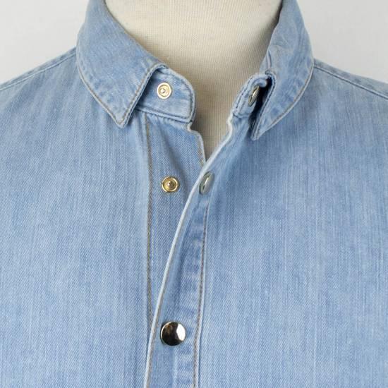 Balmain Denim Embroidered Button Down Casual Shirt Size 15.5 US 39 EU Size US XXS / EU 40 - 6