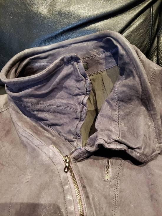 Julius AW12 Moldable Jut Neck Leather Jacket NEW Size US L / EU 52-54 / 3 - 1