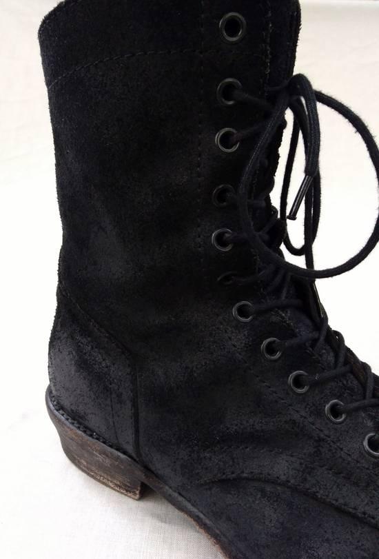 Julius Black Reversed Leather Backzip Combat Boots Size US 11 / EU 44 - 6
