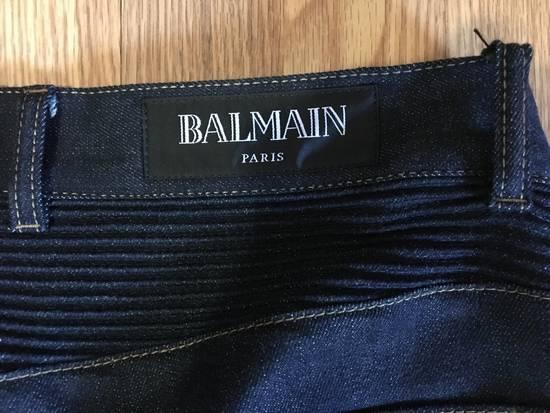 Balmain Balmain Indigo Biker Rib Jeans Size US 32 / EU 48 - 3