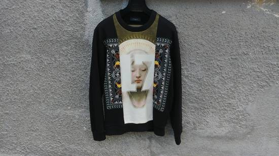 Givenchy $1280 Givenchy Madonna 17 and Rottweiler Print Shark Stars Men's Sweater size M (L) Size US M / EU 48-50 / 2