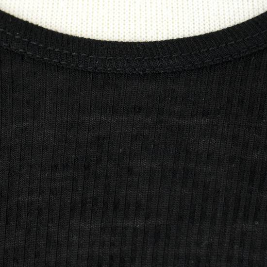 Julius 7 Black Silk Blend Long Ribbed Tank Top T-Shirt Size 4/L Size US L / EU 52-54 / 3 - 5