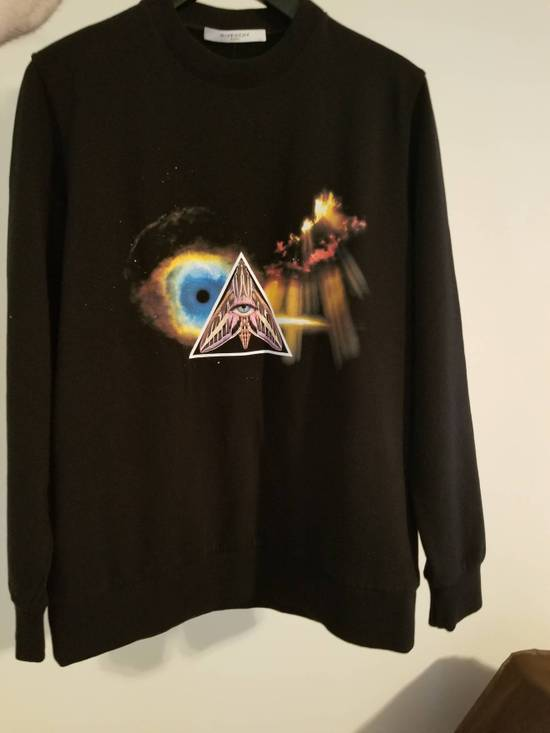 Givenchy Surreal Printed Eye Black Pyramid Jersey Sweatshirt Size US L / EU 52-54 / 3